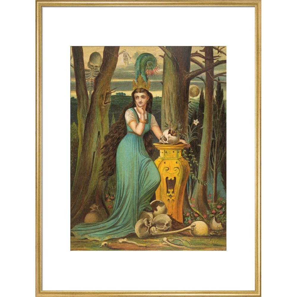Fairy tale in the forest print