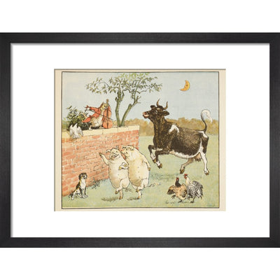 Hey Diddle Diddle print in black frame