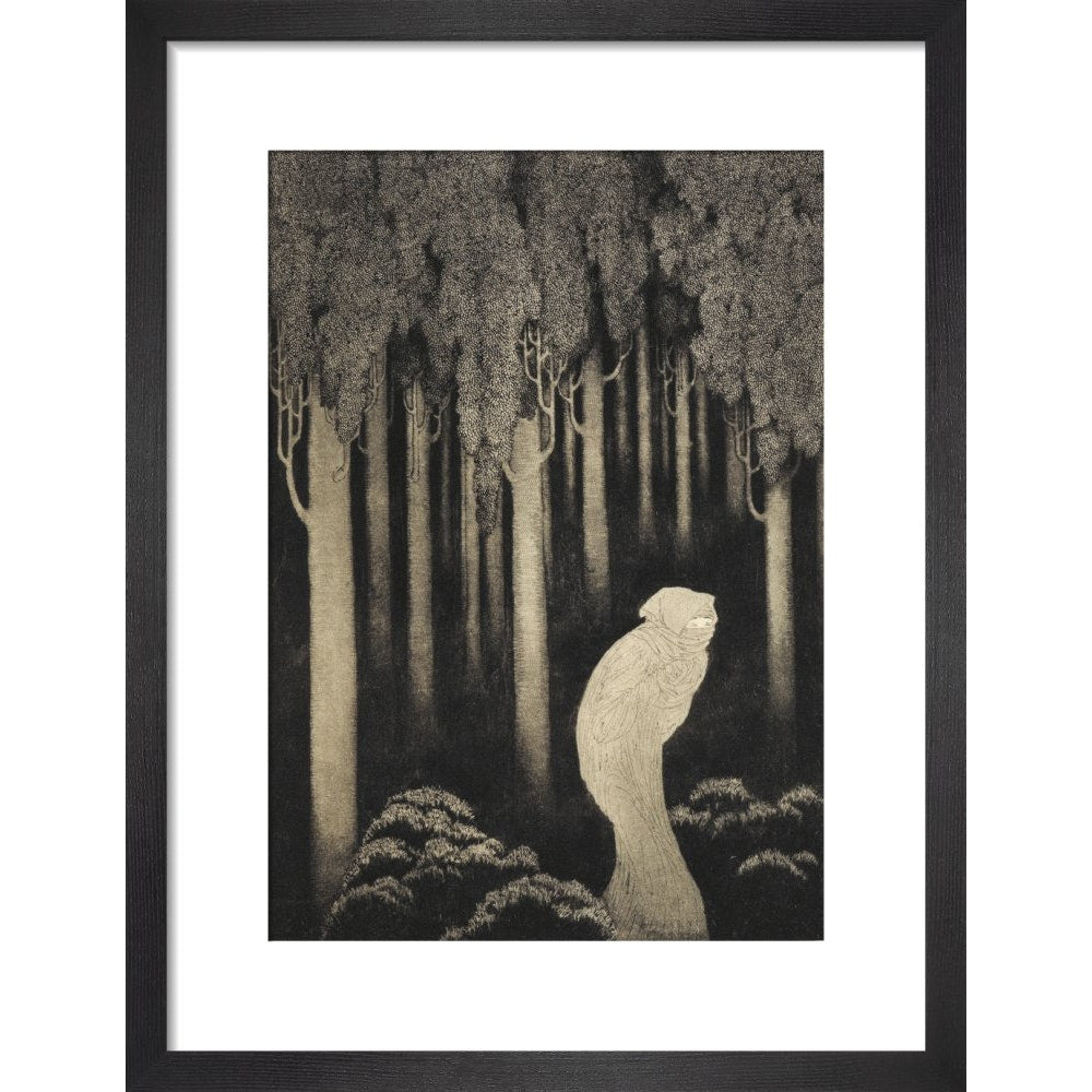 'Hish' from The Gods of Pegana print in black frame