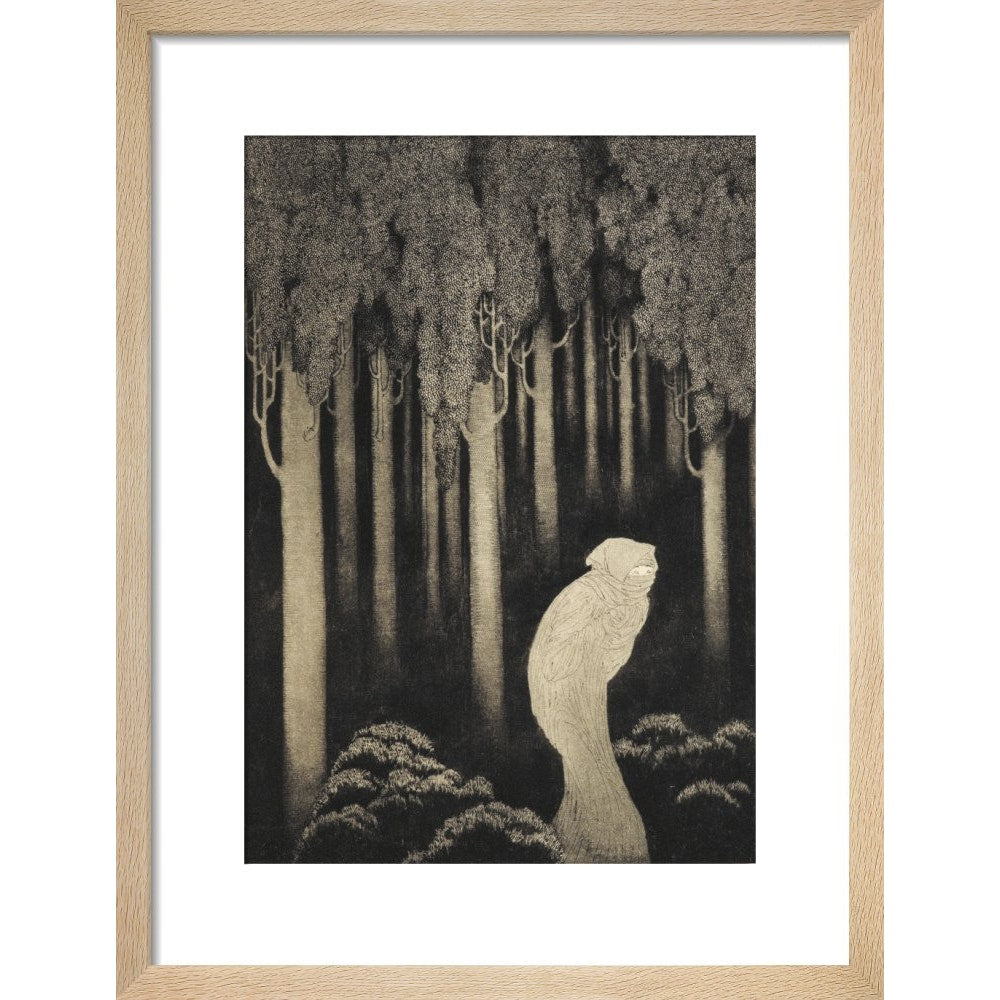 'Hish' from The Gods of Pegana print in natural frame