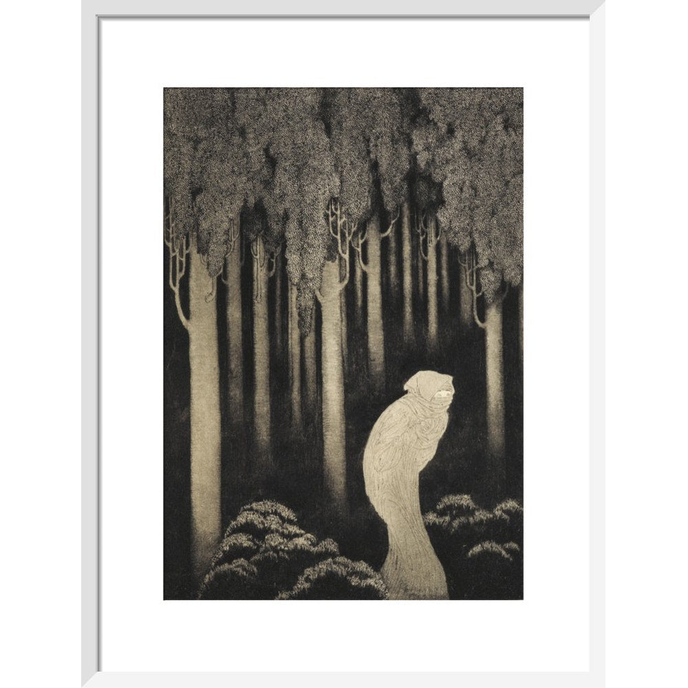 'Hish' from The Gods of Pegana print in white frame
