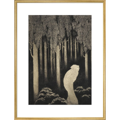 'Hish' from The Gods of Pegana print in gold frame