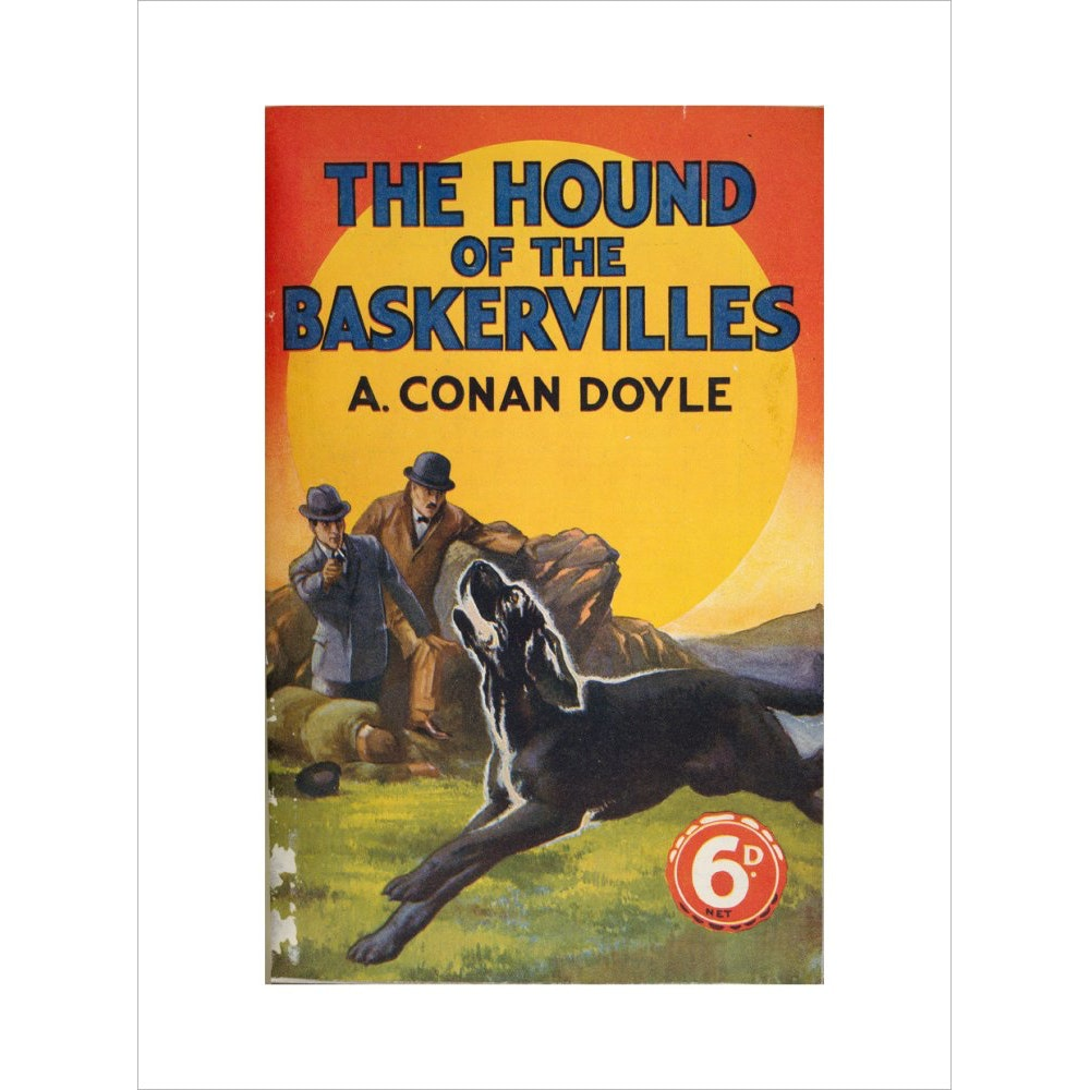 Hound of the Baskervilles book cover print unframed