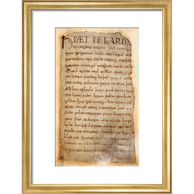 Beowulf print in gold frame