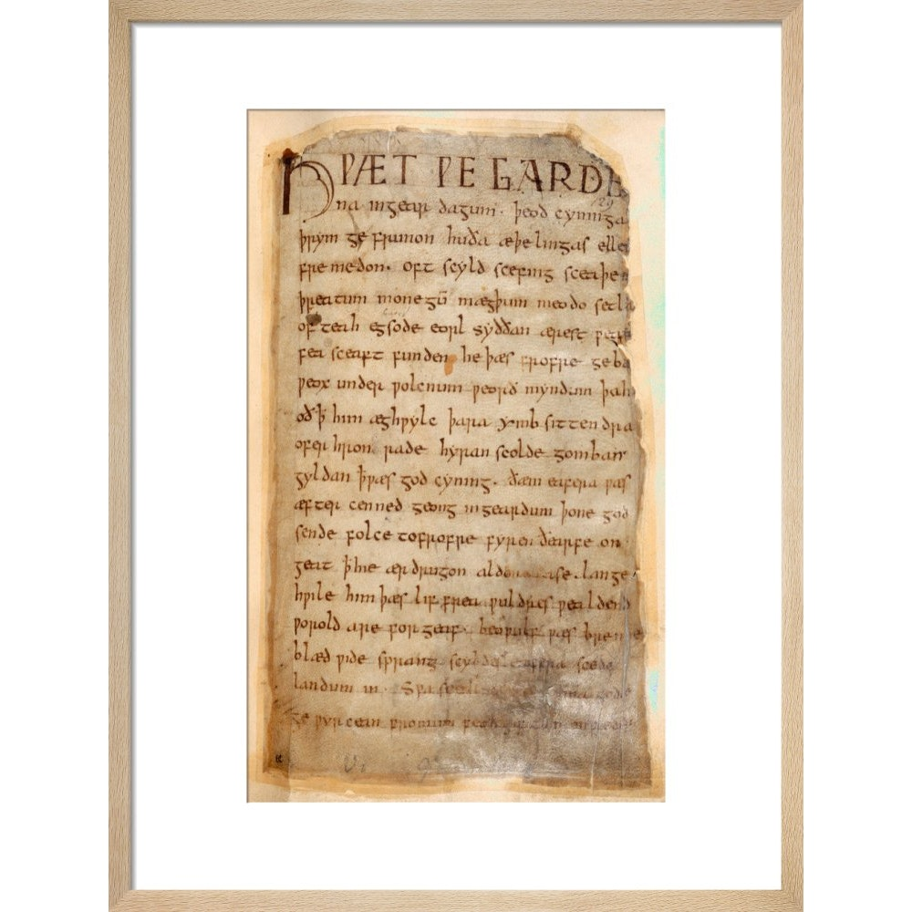 Beowulf print in natural frame