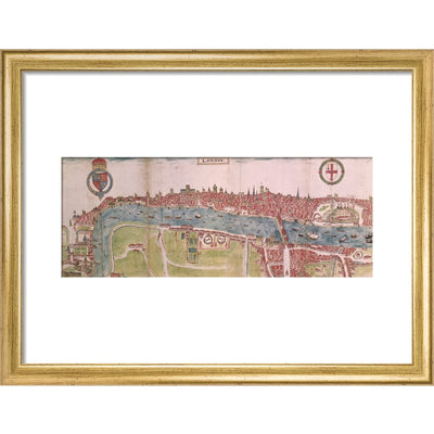 London panorama print in gold frame