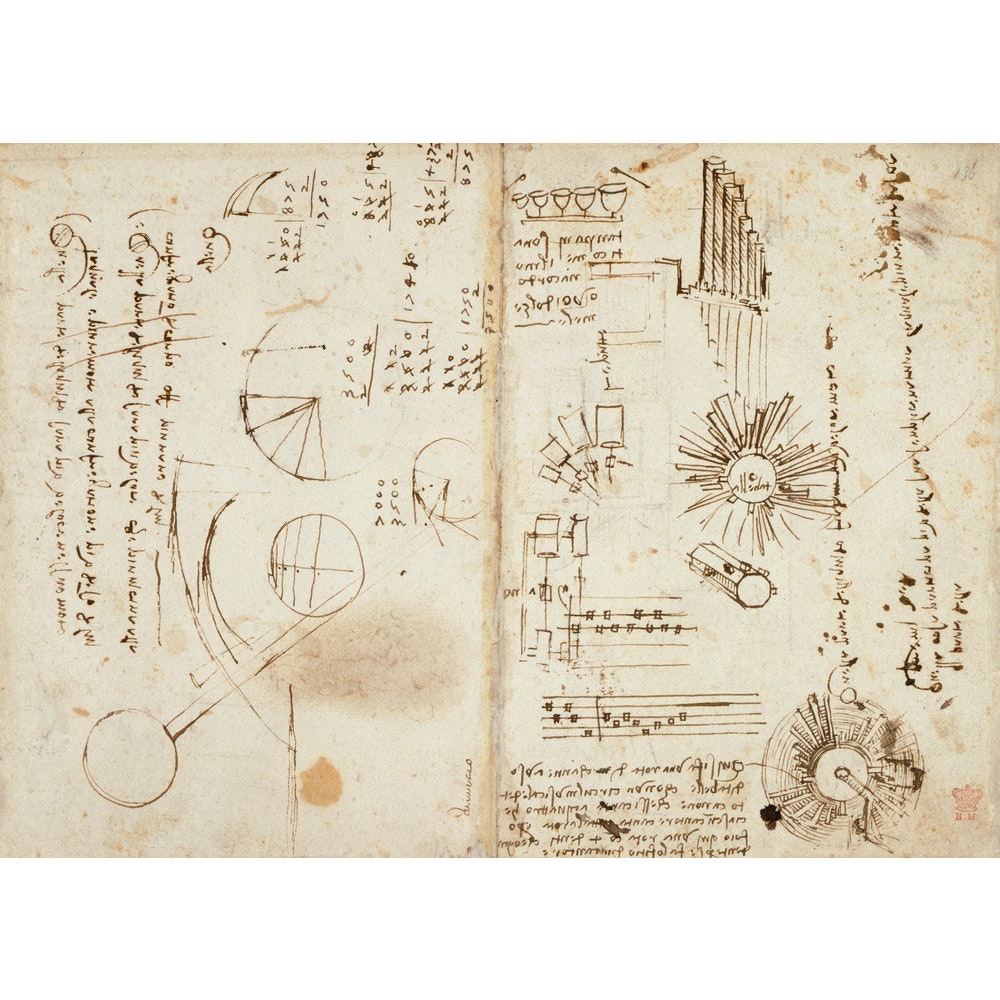 Notebook of Leonardo da Vinci print
