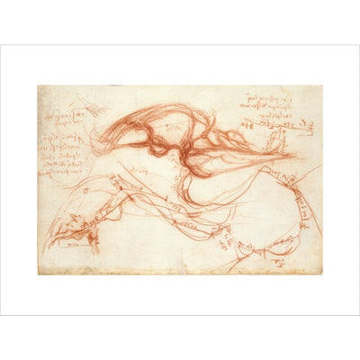 Notebook of Leonardo da Vinci (The River Arno) print unframed
