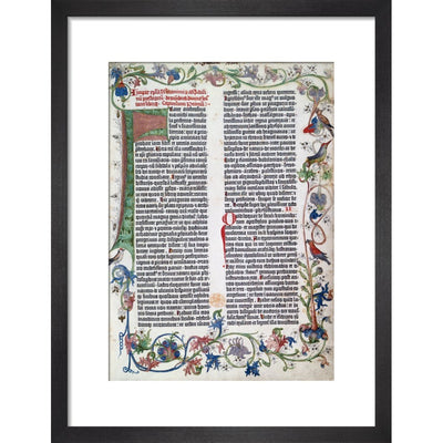 Page from the Gutenberg Bible print