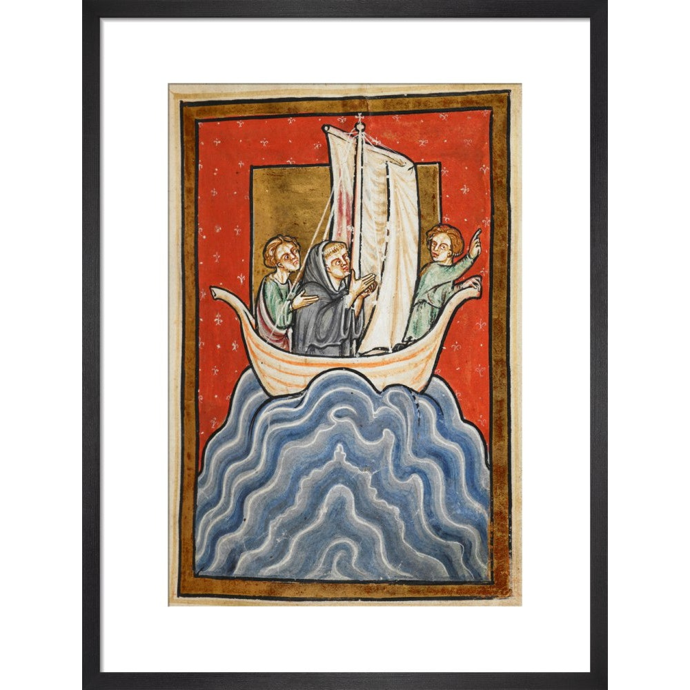 St. Cuthbert sailing to the land of the Picts print