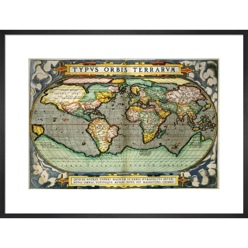World Map (from Atlas Sive Cosmographica) print