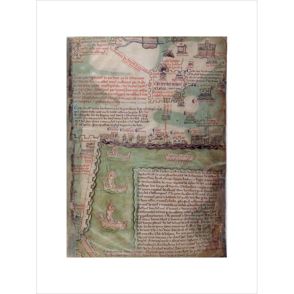 Map of Jerusalem print unframed