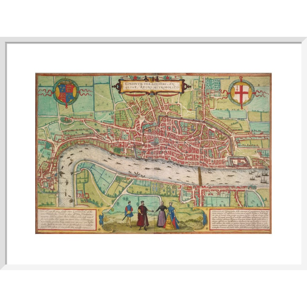 Map of London print in white frame