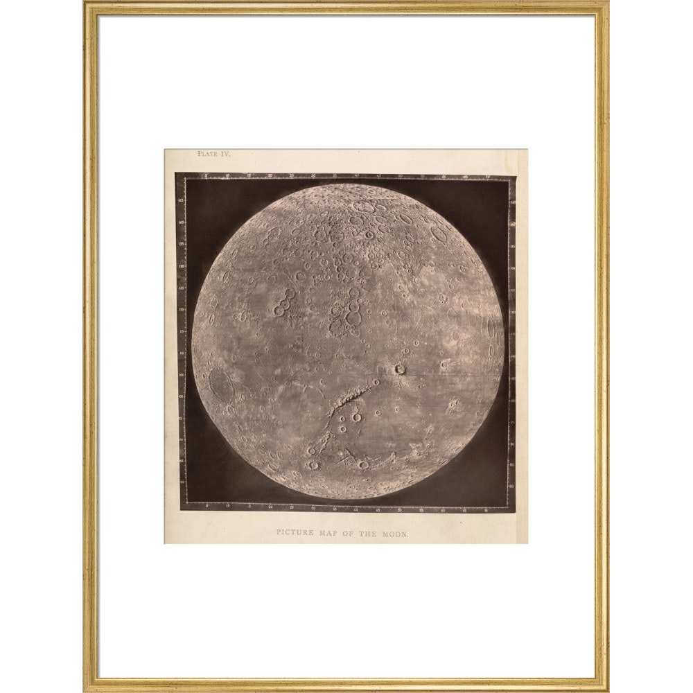 Map of the Moon print