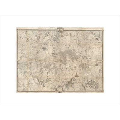 Rocque map of London and Westminster print