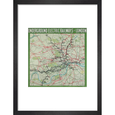 The London Underground print in black frame