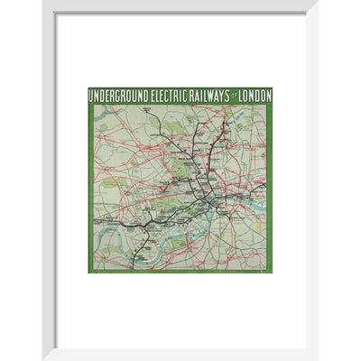 The London Underground print in white frame