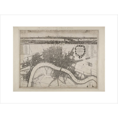 Wenceslaus Hollar's Map of London print