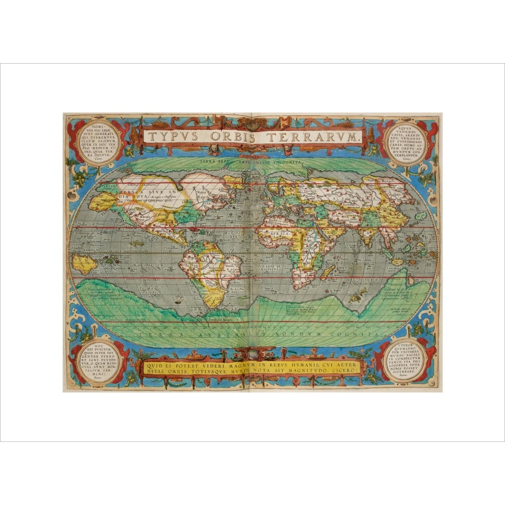 World Map (from Theatrum Orbis Terrarum) print unframed