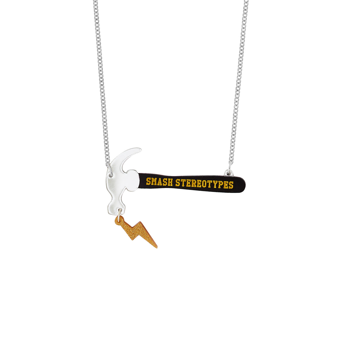 Image of Smashing Stereotypes Necklace hammer pendant