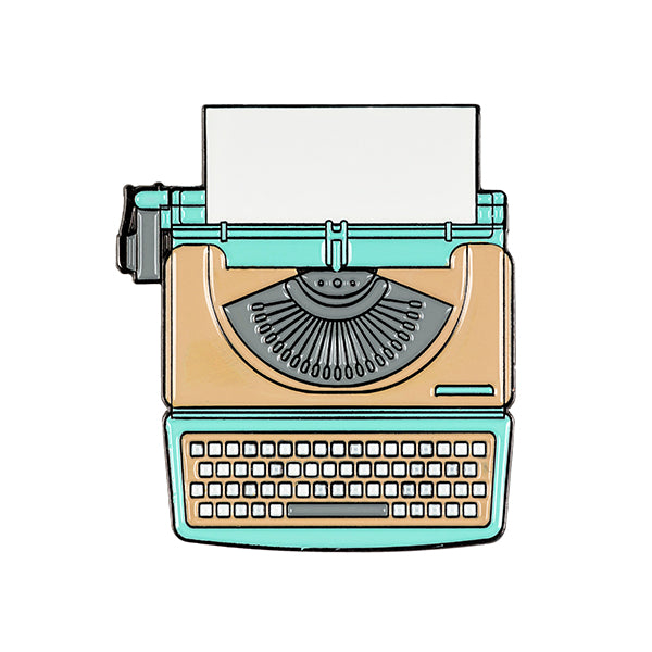 Typewriter Enamel Pin 35mm