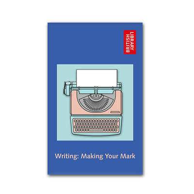 Typewriter Enamel Pin 35mm on Backing Card