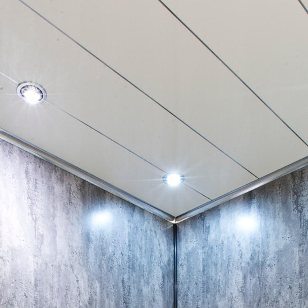 white gloss  silver edge 5mm thick ceiling panels  wet