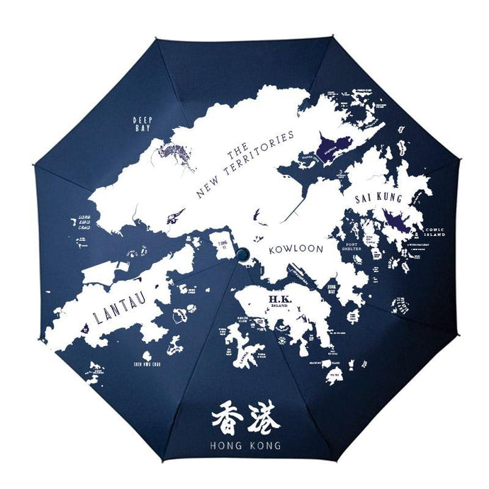 Hong Kong Umbrella - tinyislandmaps