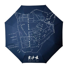 Load image into Gallery viewer, Tsim Sha Tsui Umbrella - tinyislandmaps