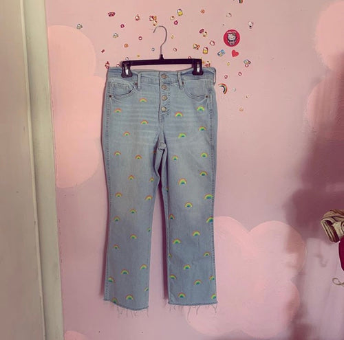 rainbow denim