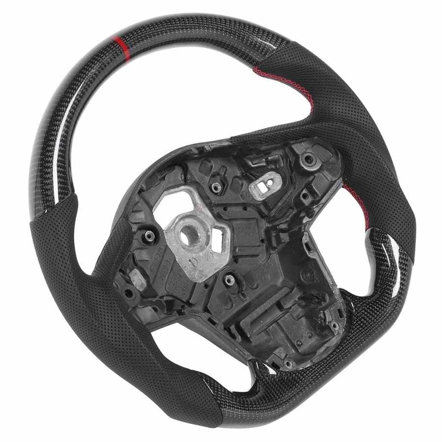 Carbon Fiber Steering Wheel Perforated Leather Fit for