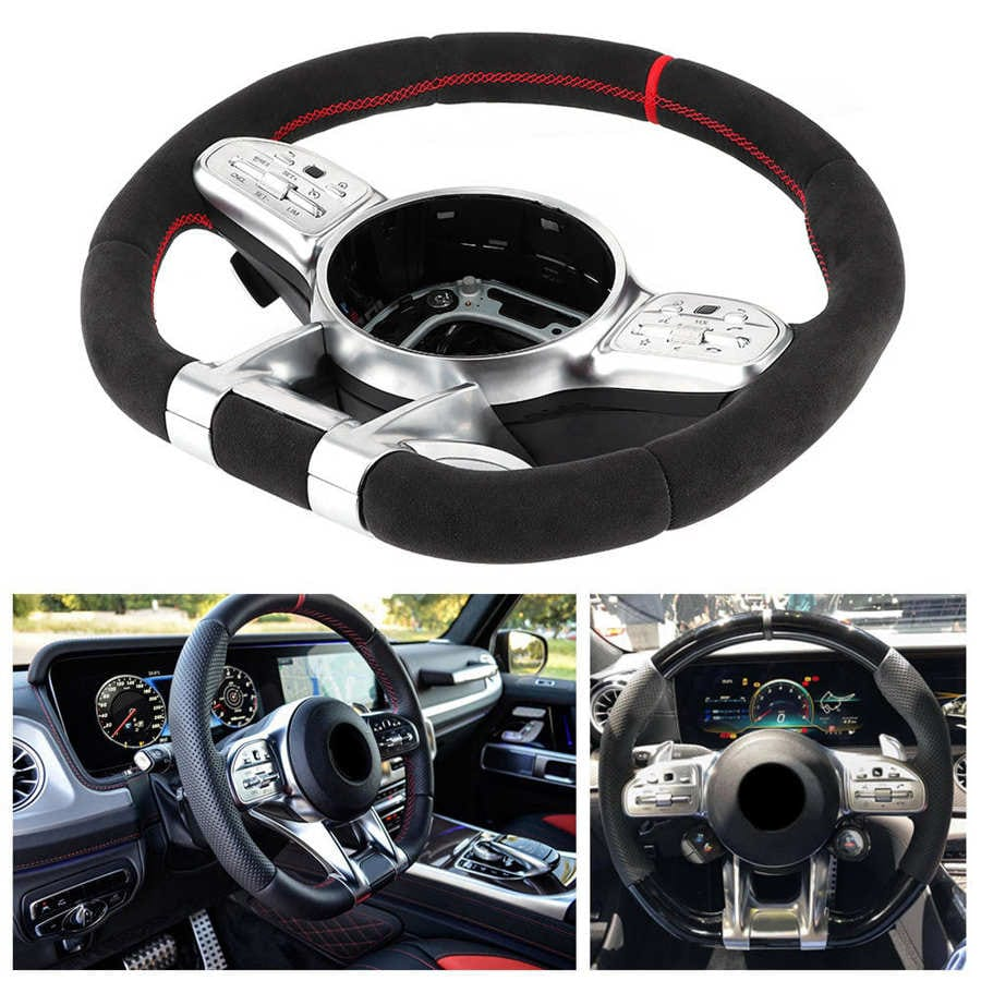 Full Suede Steering Wheel Assembly Fits for Mercedes-Benz