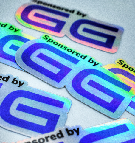 Sponsored By GG Holographic Sticker