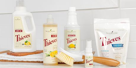 Thieves is an important ingredient in home cleaning and personal care products, such as laundry soap, mouthwash, fruit and vegetable spray, and hand purifier.