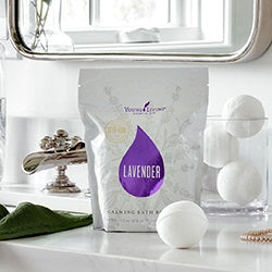 Young Living Lavender Calming Bath Bombs - 4pk