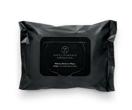 Young Living Savvy Minerals - Makeup Remover Wipes - 30ct