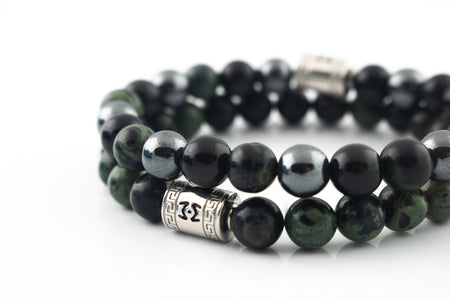 Silver Classic | Dark Juniper Set | 8mm