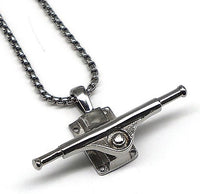 Skateboard Truck Necklace,Stainless Steel Necklace for Men Women - AYMALOY