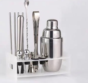 Load image into Gallery viewer, Classic Cocktail Shaker 9 pieces set