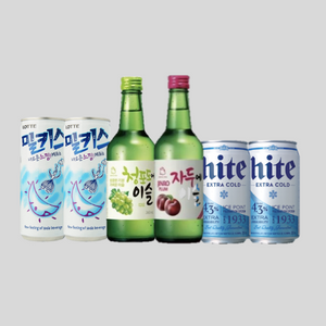 Stay Home Bundle Deal - 2 Jinro Soju 2 Milkis 2 Hite beer for $30.80