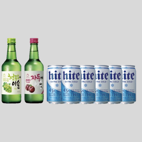 Stay Home Bundle Deal - 2 Jinro Soju 6 Hite Extra Cold Beer Cans for $40.80