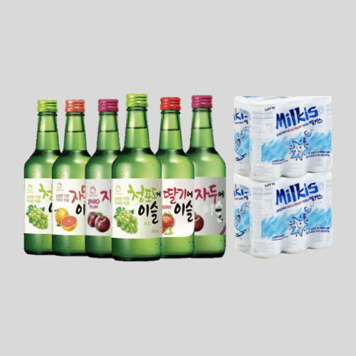 Stay Home Bundle Deal - 6 Jinro Soju 12 Milkis for $77.80