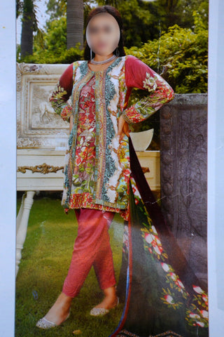 3pc Twill with Bamber dupatta just in 1400