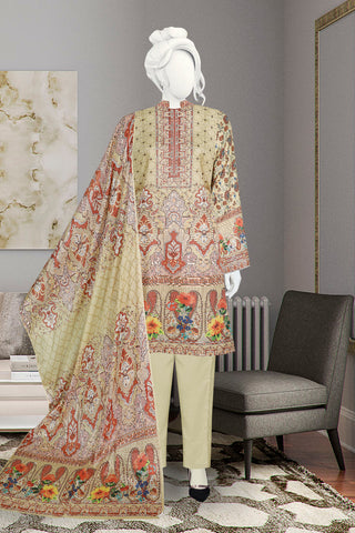 3pc Digital with Voil Dupatta