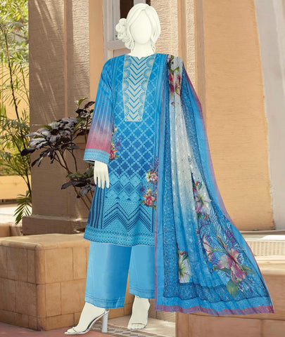 3pc Self design with Embroidered Dupatta just in 1850