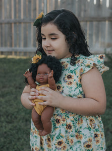 Doll And Me Sunflower Set[Doll/Kid not included]