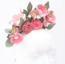 Load image into Gallery viewer, Pink Field Fascinator|Tea Party Hat|