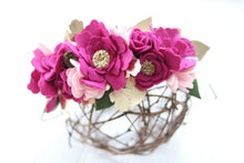 Load image into Gallery viewer, Love you More Collection|felt flower|felt crown|mommyandme|babyshower|newborn|photo props|Valentines |brides|weddingcrowns|bridesmaid|floral