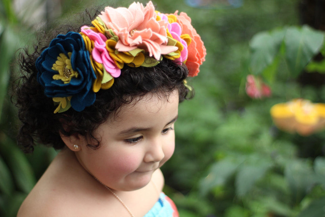 Full Frida Crown//fridakahlo//feltcrown//flowercrown//birthday//gifts//flowerheadband//feltflowerheadband