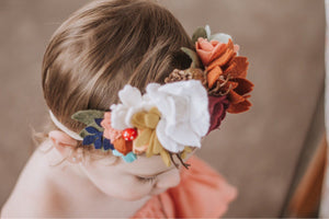 Woodland Creatures collection|feltflowers|feltheadbands|birthday|woodlandbirthday|hairaccesories|flowerheadband|spring